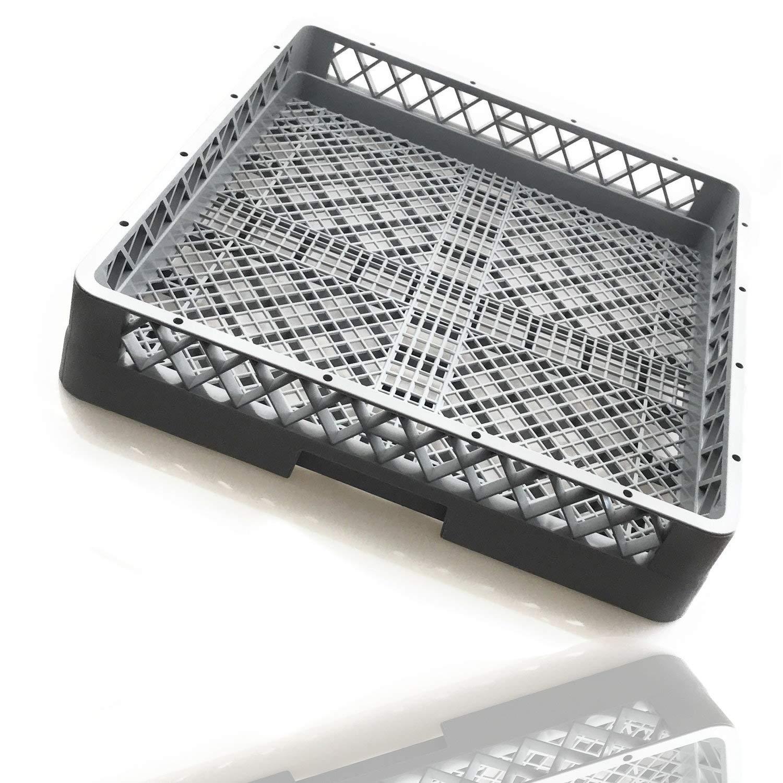 Gastronette Cesta para lavavajillas universal, de plástico, 50 x 50 cm, malla fina, apilable, GN Norm