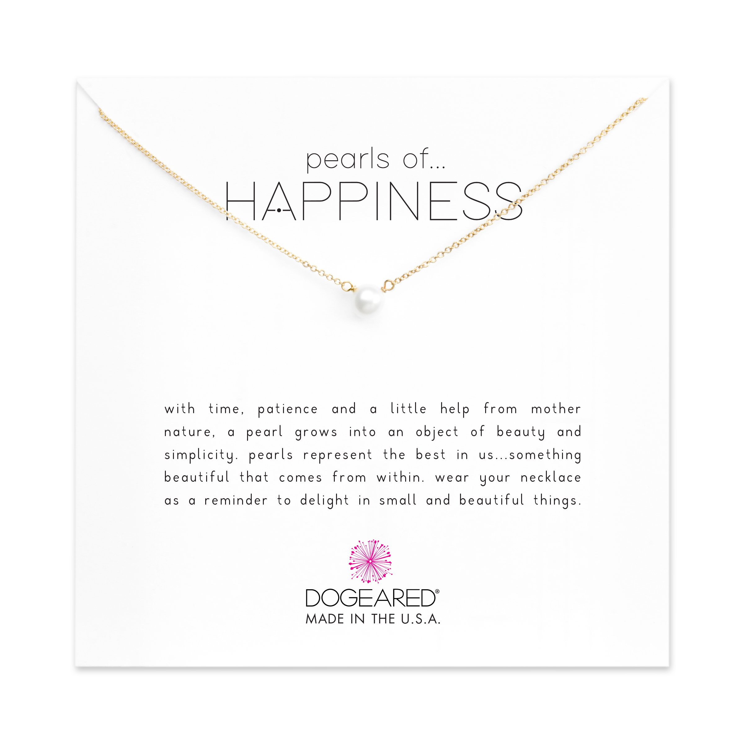 Dogeared Gold Filled Pearls of Happiness Freshwater Cultured 16'' Boxed Necklace