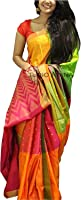Tdc Women's Silk Saree With Blouse Piece (Tdc-0098, Multicolor, Free Size)