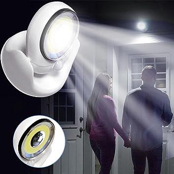 TAOtTAO 360 grados de luz inalámbrico sensor de movimiento activado luz LED luz giratoria