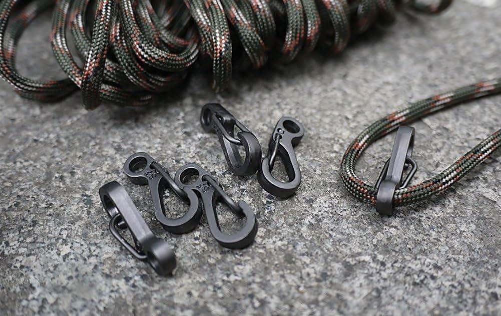 ZENDY blocco moschettone agganciare 1 pollici di lunghezza portachiavi sgancio rapido nero piccolo per esterni 10 pezzi