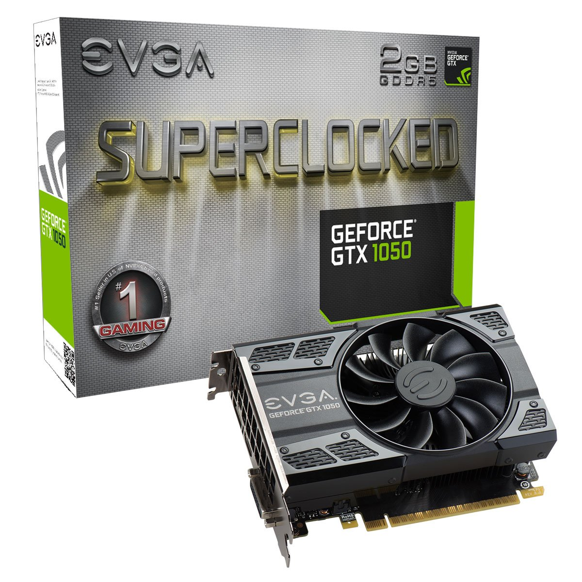 EVGA GeForce GTX 1050 SC GAMING, 2GB GDDR5, DX12 OSD Support (PXOC) Graphics Card 02G-P4-6152-KR by EVGA (Image #1)