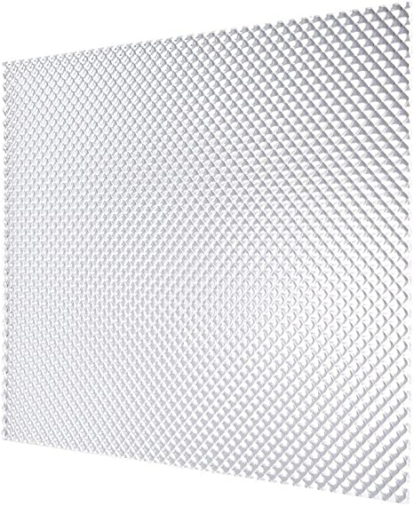 DURALENS Lighting Panel Acrylic Cover - 2x2 Clear - Prismatic - 2 ft. x 2  ft. - 5 Pack – Fluorescent Light Covers for Kitchen