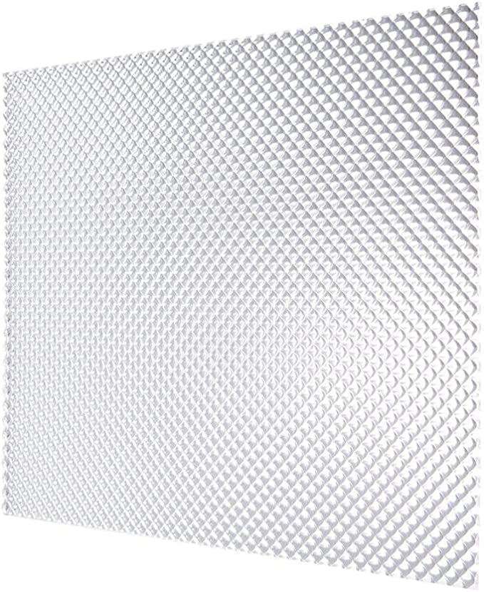 5-Pack x 2 ft. Acrylic Clear Cracked Ice Lighting Panel Lightweight 2 ft