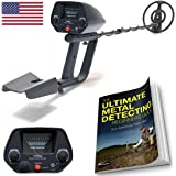 NHI Metal Detector Starter Kit - Metal Detectors Waterproof Coil Measures 7.5 Inches - Sensitivity Adjust & Discrimination - Includes 72 Page Beginners Guide & Folding Shovel