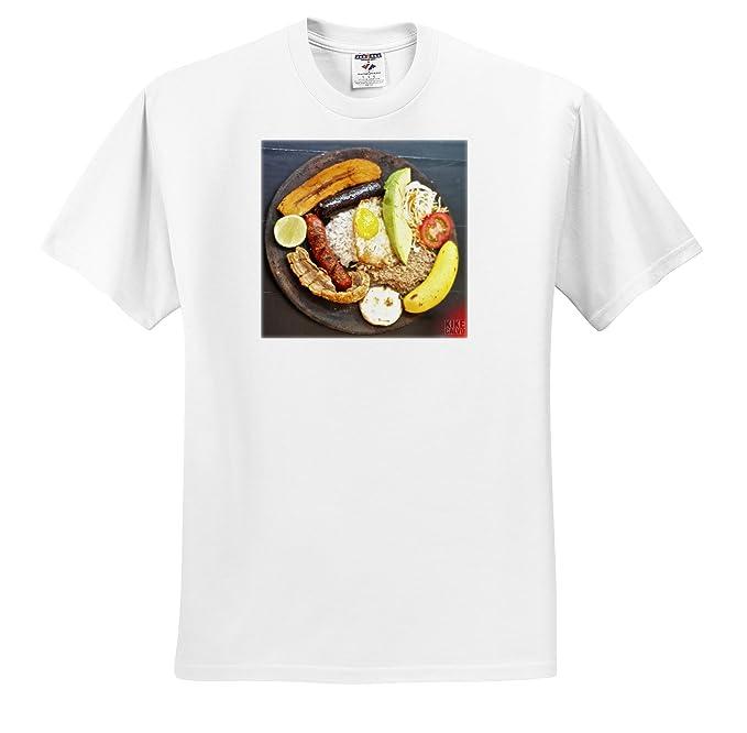 Amazon.com: 3dRose Kike Calvo Bandeja Paisa Medellin - A Bandeja Paisa - T-Shirts - Adult T-Shirt XL (ts_59842_4): Clothing