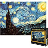 VanStar World Famous Painting Van Gogh Starry Night 1000Pcs Large Jigsaw for Adults Kids - Unique Cut Interlocking Pieces