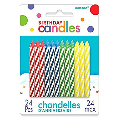 Spiral Birthday Candles | Pack of 24 | Birthday Candles | Party Supply: Kitchen & Dining