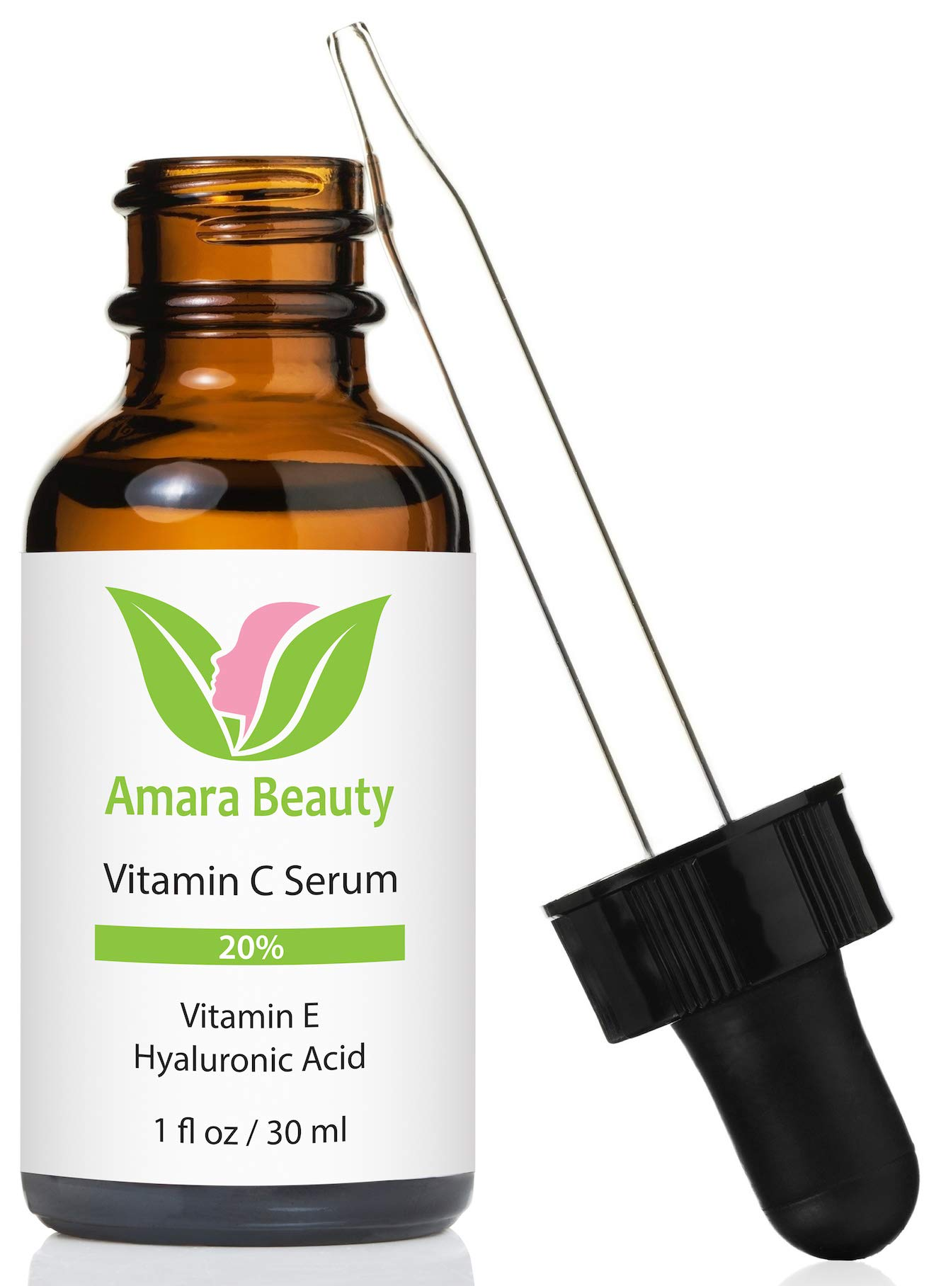 Vitamin C Serum for Face 20% with Hyaluronic Acid & Vitamin E, 1 fl. oz. by Amara Beauty