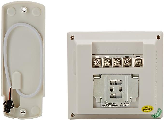 Blanc Smartwares 10.007.50 Portier Audio//interphone Main Libre avec Haut Parleur ib71 SW