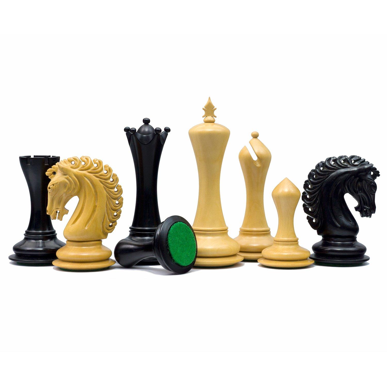 Die Gro/ße Empire Ritter Ebenholz Luxus Schachfiguren mit 11.4cm King