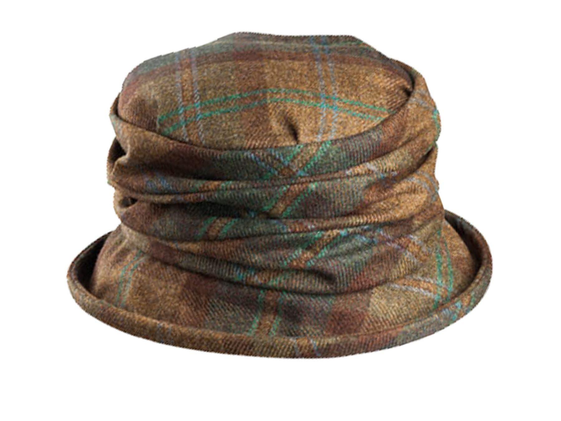 Olney Sue Ladies Tweed Hat Blue by Olney Hats