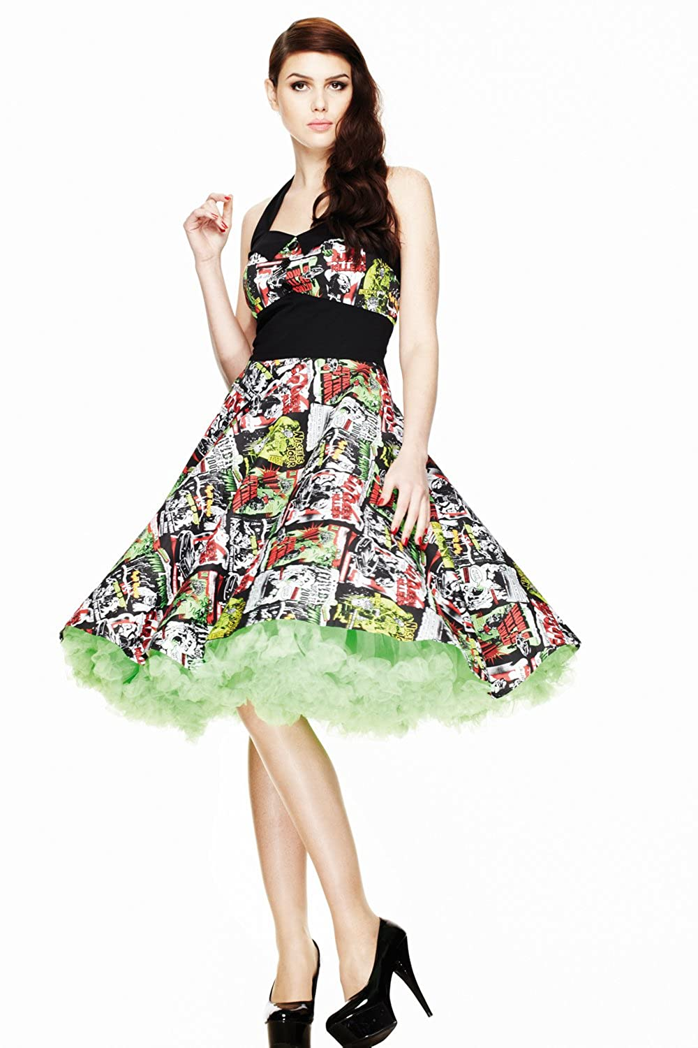 Hell Bunny B Movie 50/ s Dress 4141/ Black Multi
