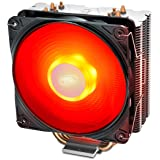 DEEP COOL GAMMAXX400V2 Red CPU Air Cooler with 4 Heatpipes, 120mm PWM Fan and Red LED for Intel/AMD CPUs (AM4 Compatible) (DP