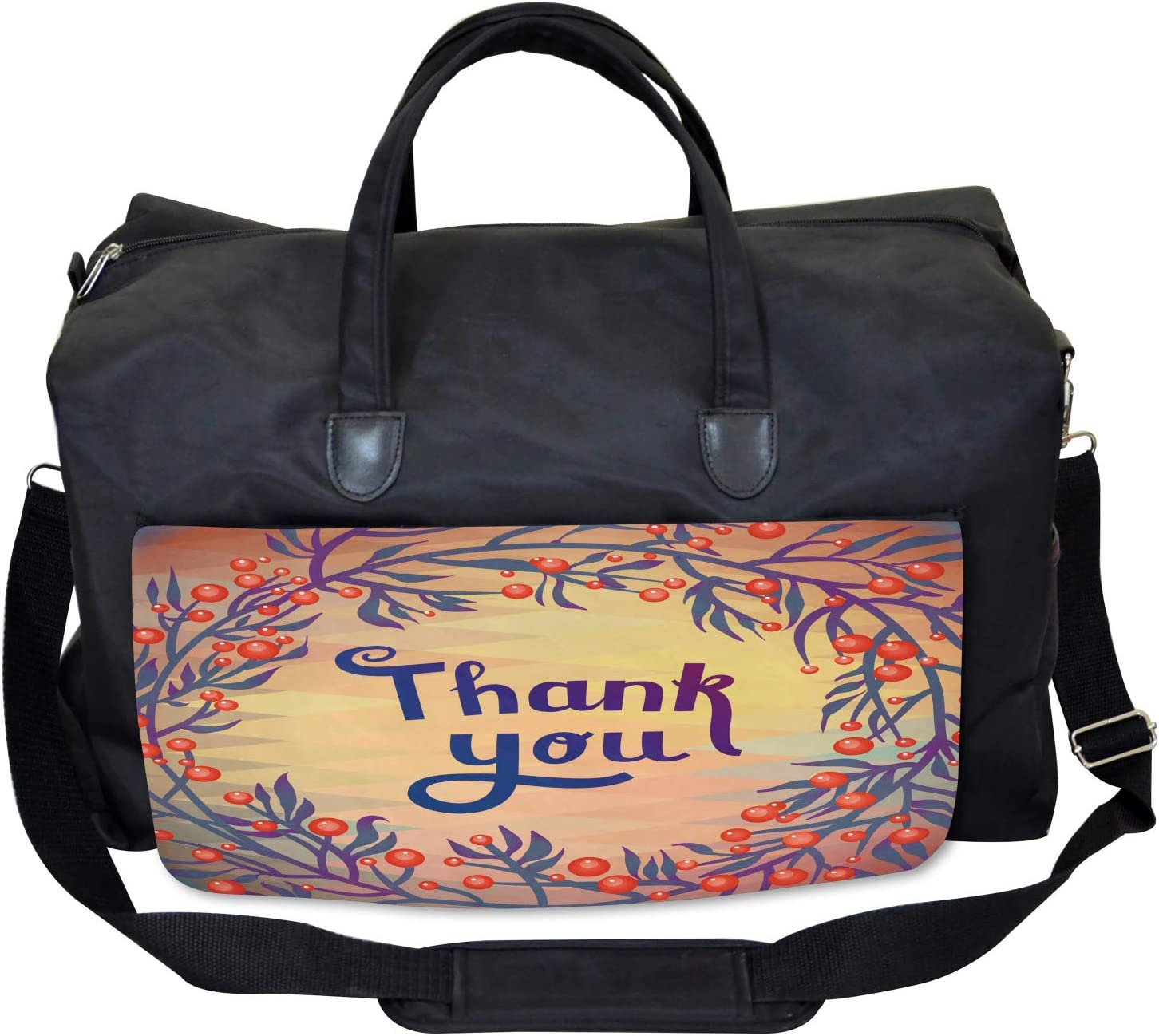 Christmas Theme Flowers Large Weekender Carry-on Ambesonne Nature Gym Bag