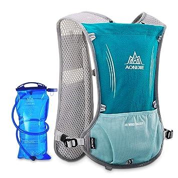 HMJZ Hydration Pack Mochila 5.5L Outdoors Mochilas Trail Marathoner Running Race Chaleco de hidratación