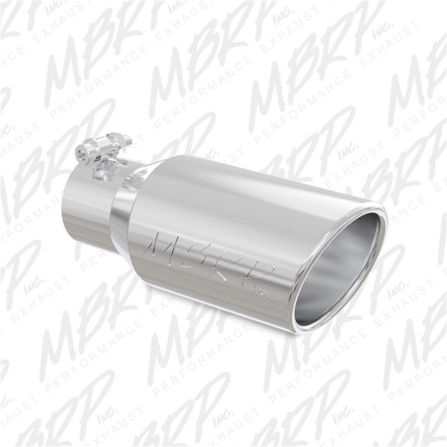 MBRP T5155 T304 Angled Rolled End Tip, 4' O.D, 3' Inlet, 10' Length 4 O.D 3 Inlet 10 Length MBRP Exhaust