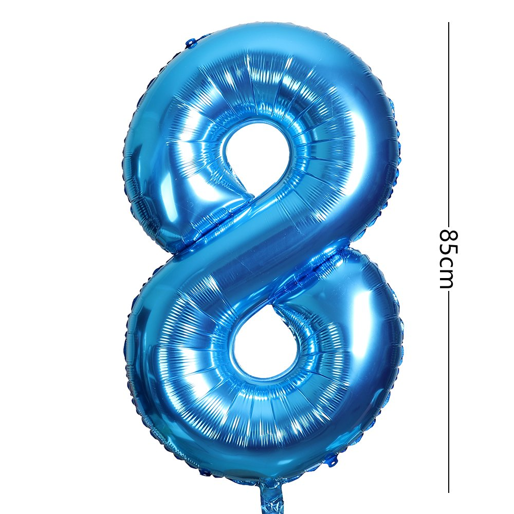 Smarcy Globos Número 8 Decoración de Cumpleaños 8 Años ...