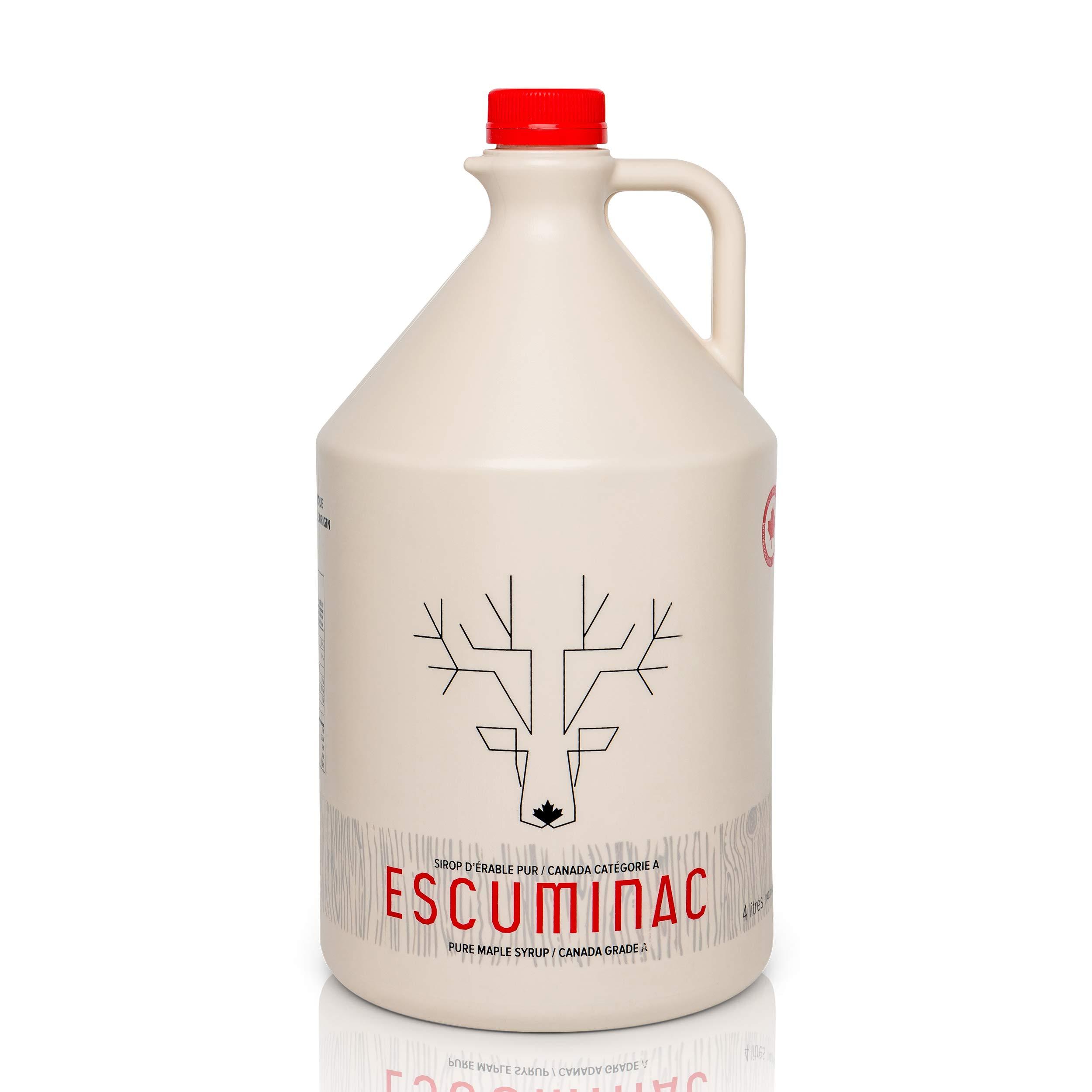 Award Winning Escuminac Great Harvest Canadian Maple Syrup. Restaurant, Chef Size 4 L (135 fl oz) Canada Grade A Dark Medium Taste - Pure, Organic, Single Origin, Unblended. by Escuminac