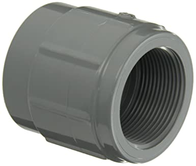 90 Degree Elbow 1-1//4 NPT Female x Slip Socket GF Piping Systems PVC Pipe Fitting Schedule 80 Gray