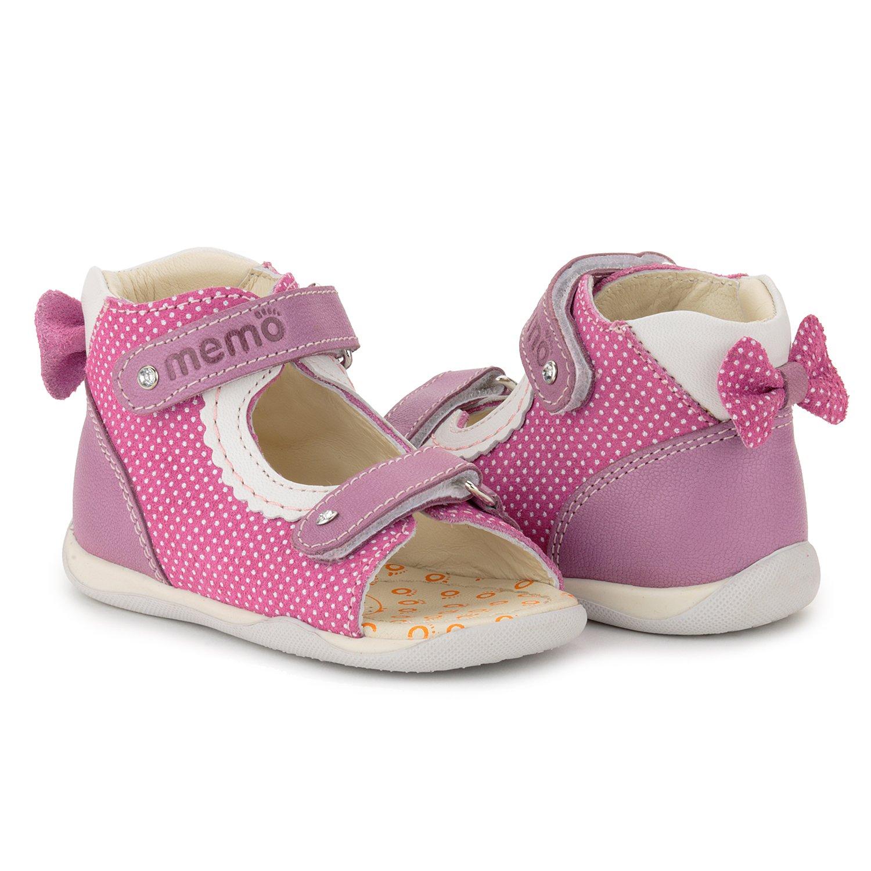 Memo Mini 1JE Baby Girl' First Walker Orthopedic Leather Anti-Slip Sandal, 19 (4 Toddler) by Memo (Image #9)