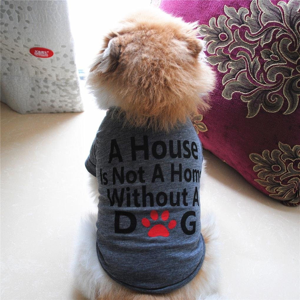 Hot Sale!!Small Dog Cat Pet Puppy Summer Shirt Clothes Vest T-Shirt (XS, Gray B) by Woaills (Image #6)