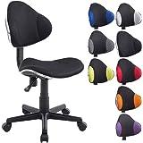 CLP Chaise de bureau moderne BASTIAN, design moderne & forme ergonomique, réglable en hauteur 39 - 51 cm, capacité de charge max. 100 kg noir/noir