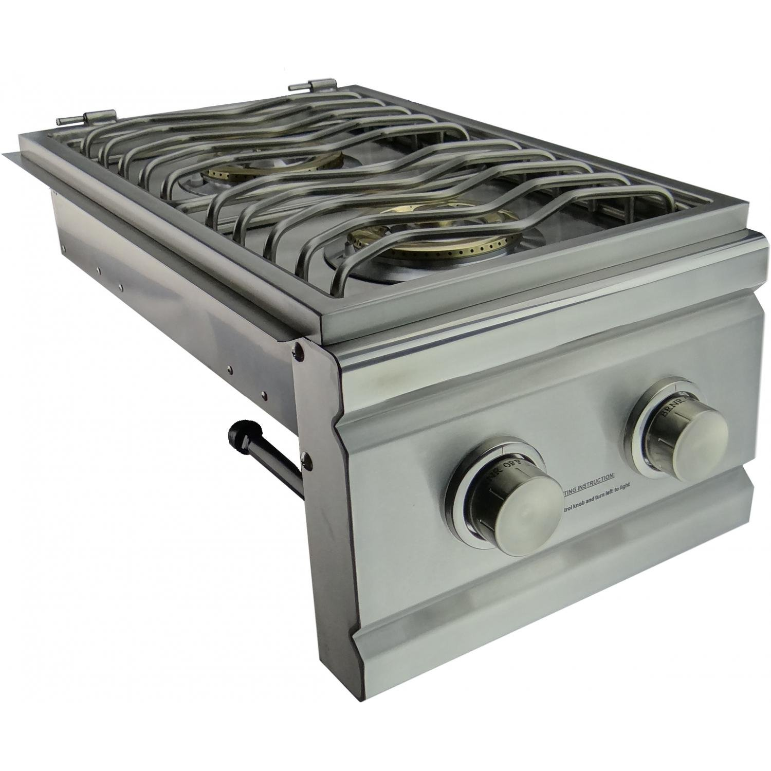 RDB1LP Stainless Steel Double Side Burner Up to 24000 BTUs Liquid Propane