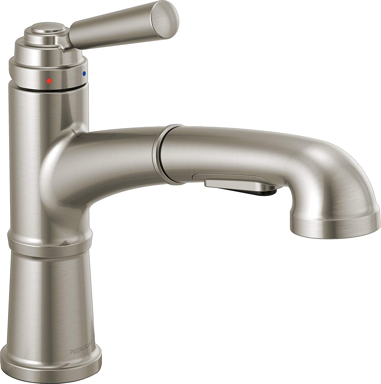 Oil-Rubbed Bronze Delta Faucet P6923LF-OB Westchester Pull-out Kitchen Faucet Single Handle