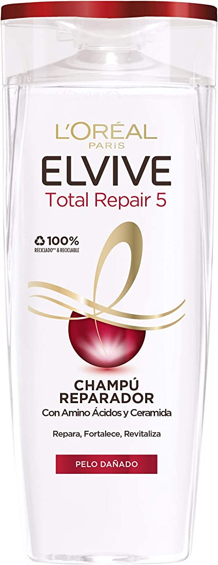 Oferta amazon: L'Oreal Paris Elvive Total Repair 5 Champú Reparador para El Pelo Dañado - 285 ml