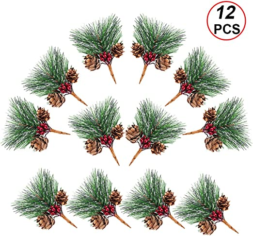 Gift Christmas Ornaments Artificial Flower Pine Cones Xmas Tree Decoration