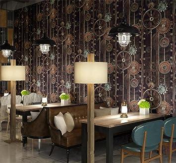 TIEZ Retro-Dachboden Tapete/Eisen Art Deco/Internet Café, Café ...