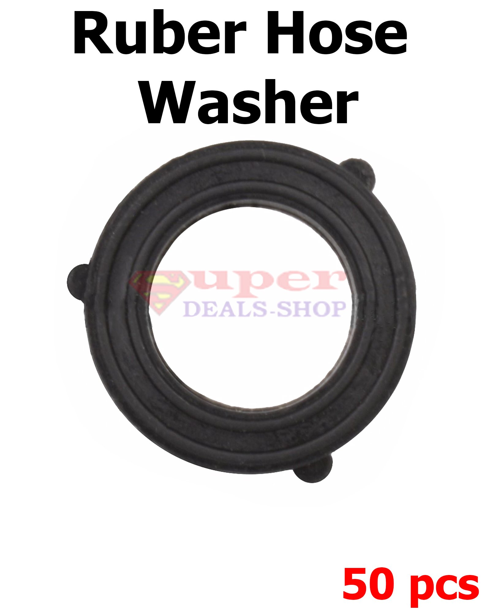 50 Pieces Garden Hose Washers Garden Hose Rubber Washer Heavy Duty Rubber Washer O-Ring Gasket Flat Hose Washers Super-Deals-Shop
