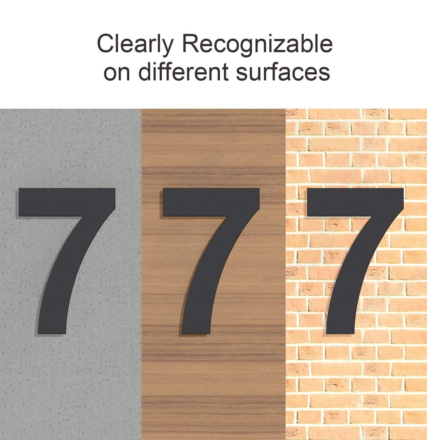 chapado en negro N/úmero 4 Cuatro N/úmero de casa moderno cepillado 205 mm de altura hecho de acero inoxidable 304 s/ólido