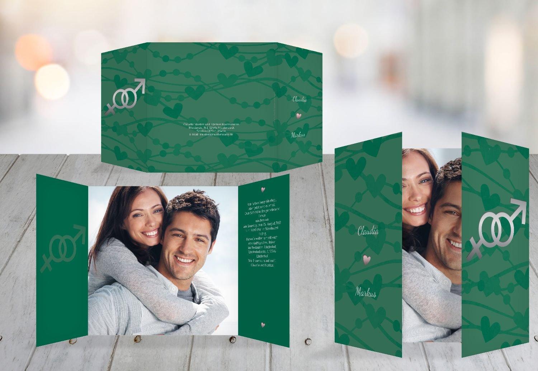 Kartenparadies Hochzeitskarte Einladung Im Zeichen der Liebe, hochwertige Einladung zur Heirat inklusive Umschläge   10 Karten - (Format  145x145 mm) Farbe  DunkeltiefBlau B01N134FHM | Lassen Sie unsere Produkte in die Welt gehen  | Feine Verarbeitu
