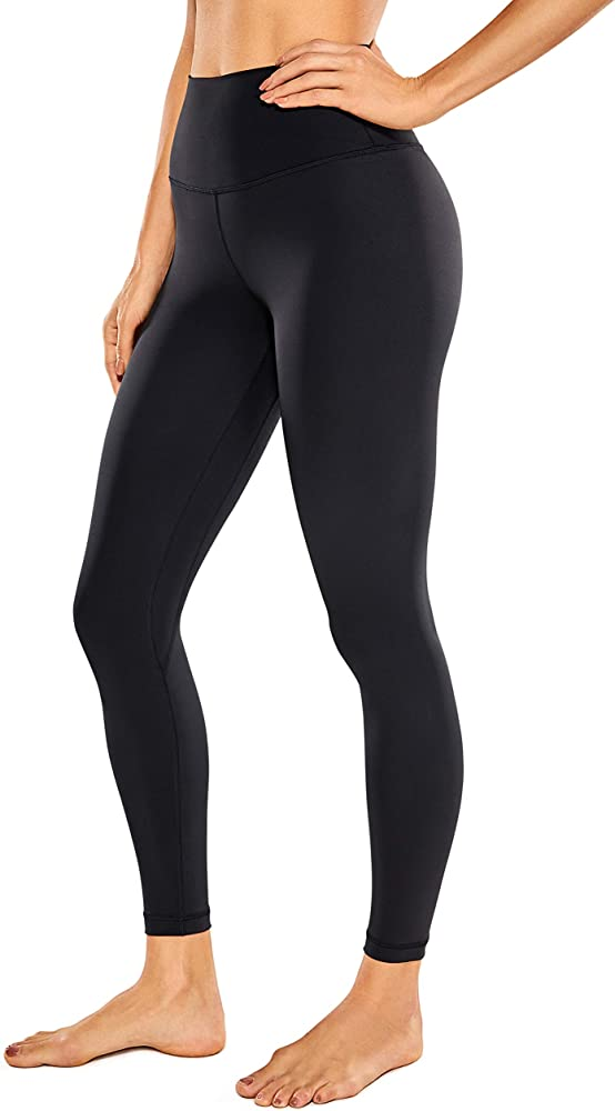 CRZ YOGA Womens High Waisted Yoga Pants with Pockets Naked Feeling Workout Leggings 25 Inches