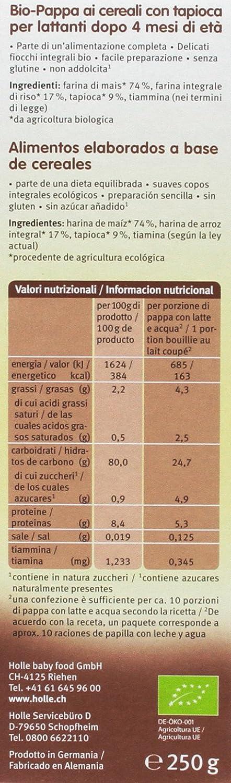 Holle Papilla de Maíz con Tapioca (+4 meses) SIN GLUTEN - Paquete ...