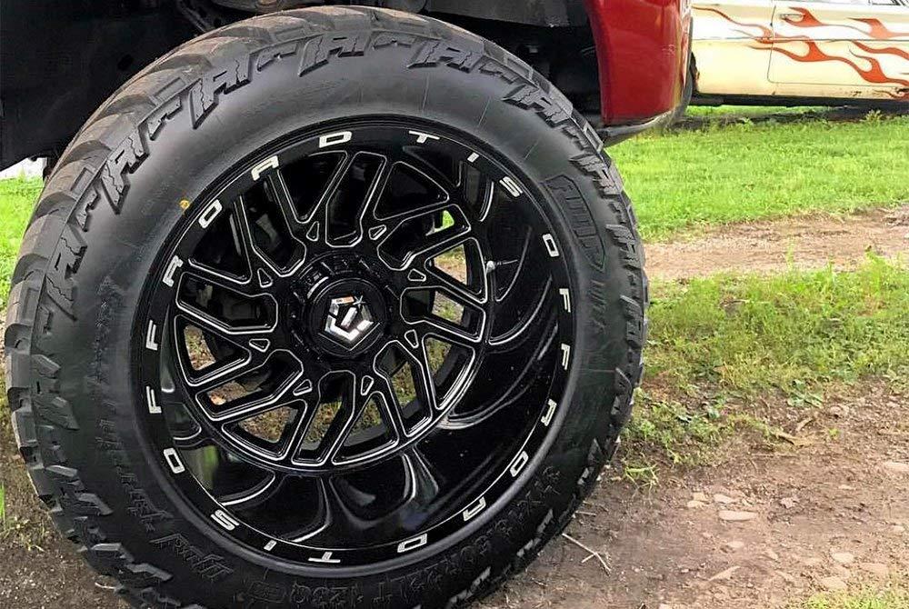 TIS 544BM Black Milled 24x14 5x5 5x5.5-76mm 544BM-2440976