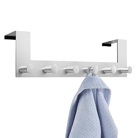 Perchero para puerta , ikalula Colgadores de puerta acero inoxidable Perchero de Acero Inoxidable Percha de Baño Gancho de Baño para los dormitorios ...