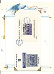 Panama Collection, John Kennedy on 12 White Ace Pages, Mint NH & FDC (B)