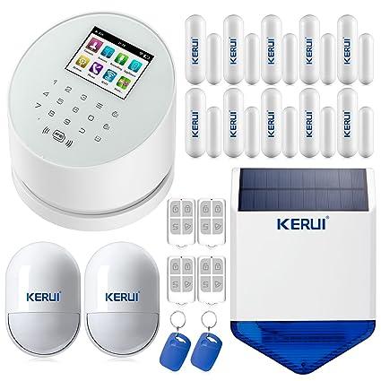 KERUI W2 WiFi solución de seguridad a la casa Sistema de alarma inalámbrica GSM con Sensor