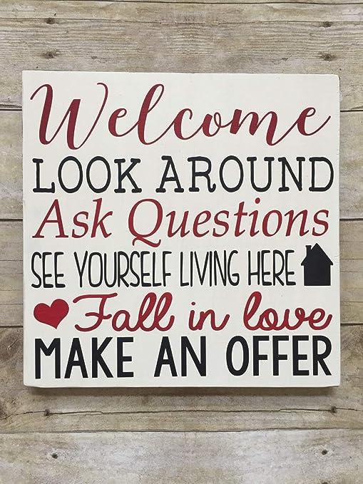 Cartel Decorativo de Madera con Texto en inglés Welcome Make ...