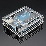 DAOKI Uno R3 Case Enclosure New Transparent Gloss Acrylic Computer Box Compatible with Arduino UNO R3