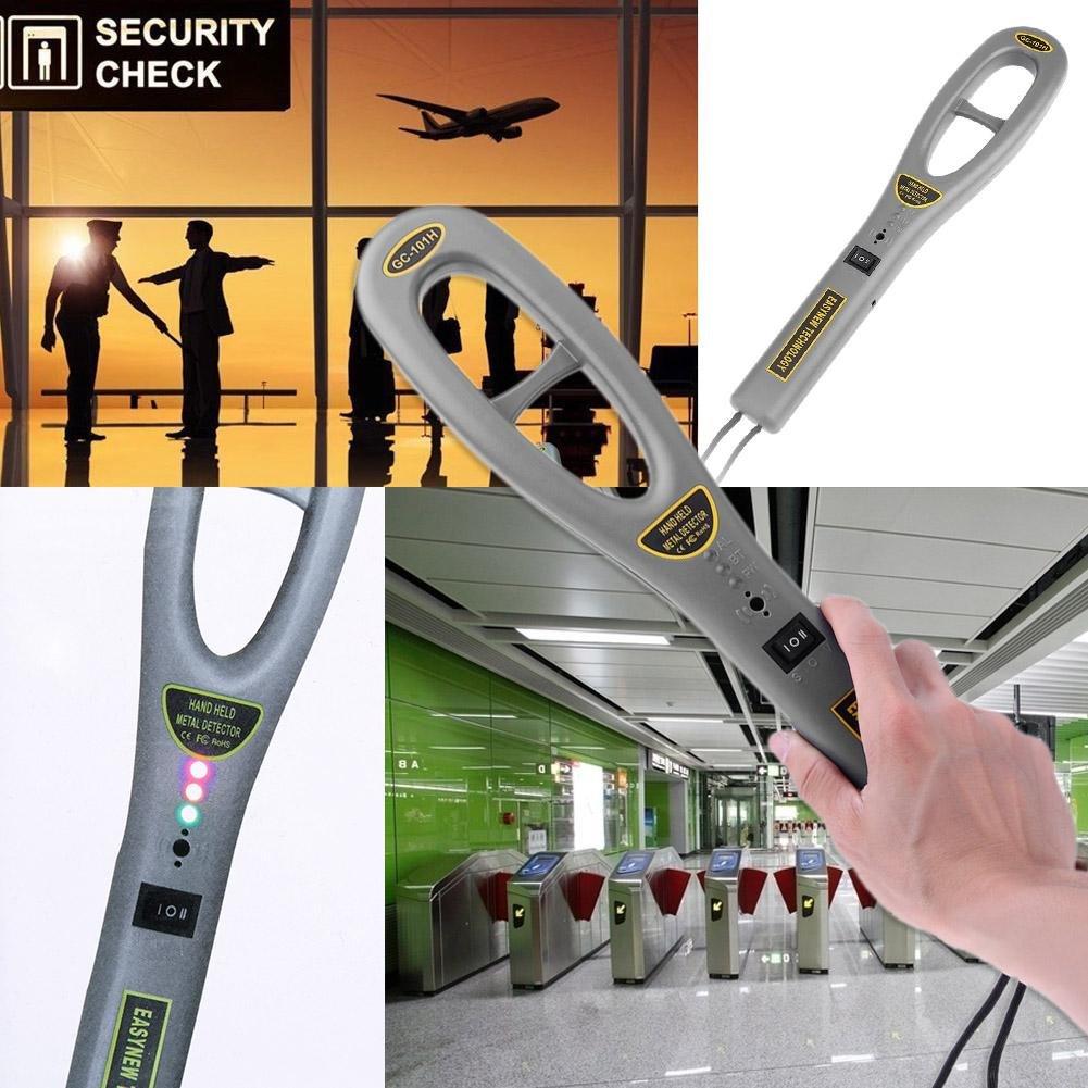 Asiproper Asiright GC101H - Detector de Metales de Mano para escáner de Alta sensibilidad (Instrumento de Seguridad): Amazon.es: Coche y moto