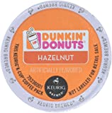 32 Count - Dunkin Donuts Hazelnut Flavored Coffee K-Cups For Keurig K Cup Brewers (2 boxes of 16 k cups)