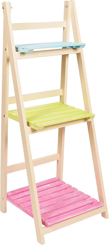 ts-ideen - Mueble para flores estante escalera estantería de pared balcón jardín colorado plegable: Amazon.es: Hogar
