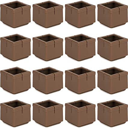 d9fb3867a67 Anwenk 16Pack Square Chair Leg Caps Furniture Leg Floor Protectors 1 1 8 to 1  3 8