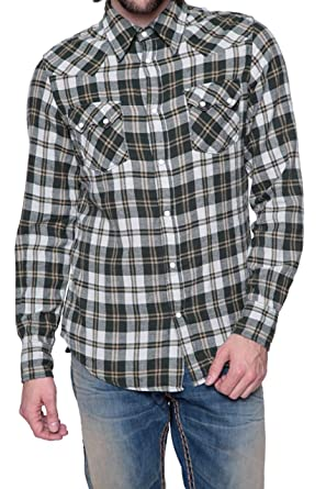 645672e17 True Religion Shirt L S Plaid Rocky Western Shirt