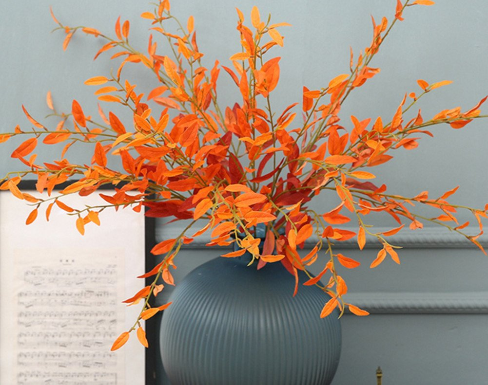 Skyseen 3PCS 40.3'' Artificial Flower Fake Olive Plants Branches Leaves for Home Decor by Skyseen (Image #2)