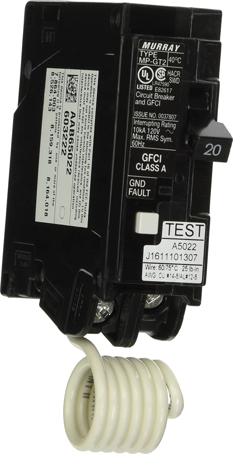 Siemens Murray MP120GFA 20-Amp 1 Pole 120-Volt Ground Fault Circuit Interrupter with Self Test and Lockout Feature